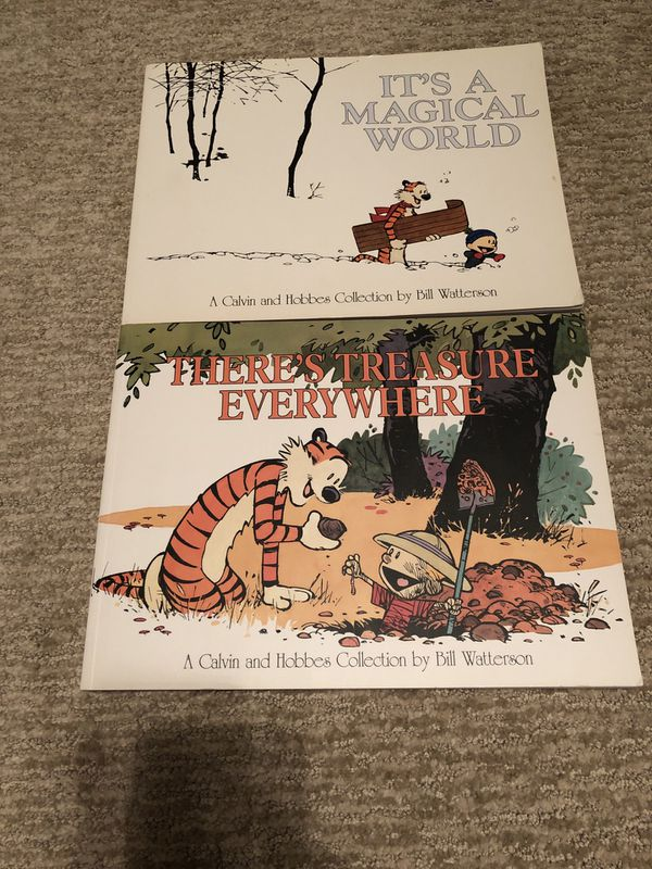 Lot of 2 CALVIN AND HOBBES COMIC BOOKS Humor Paperback by Bill Watterson