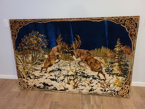 Antique Tapestry With Custom Frame for Sale in Crosby, TX