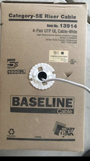 New box of Cat 5 Cable 1000 feet for Sale in Victorville, CA