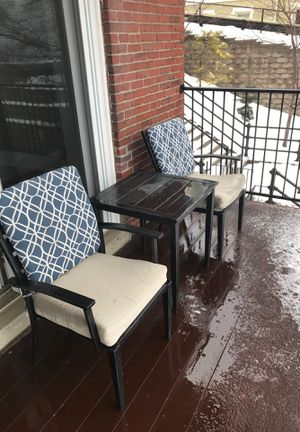 Hampton bay metal chairs and table for Sale in Boston, MA