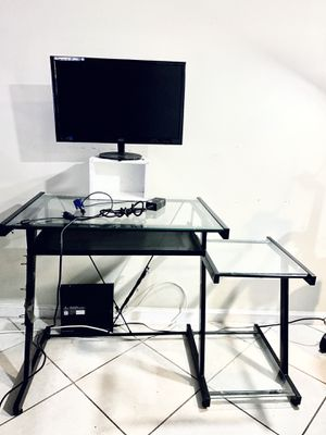 Computer Desk and Monitor for Sale in Greenacres, FL