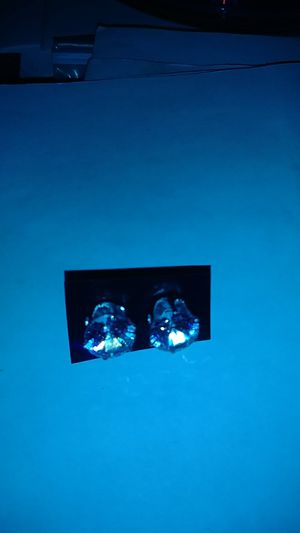 Diamond silver earring for Sale in Columbus, OH