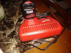 12 v Milwaukee charger and battery for Sale in Chester, VA