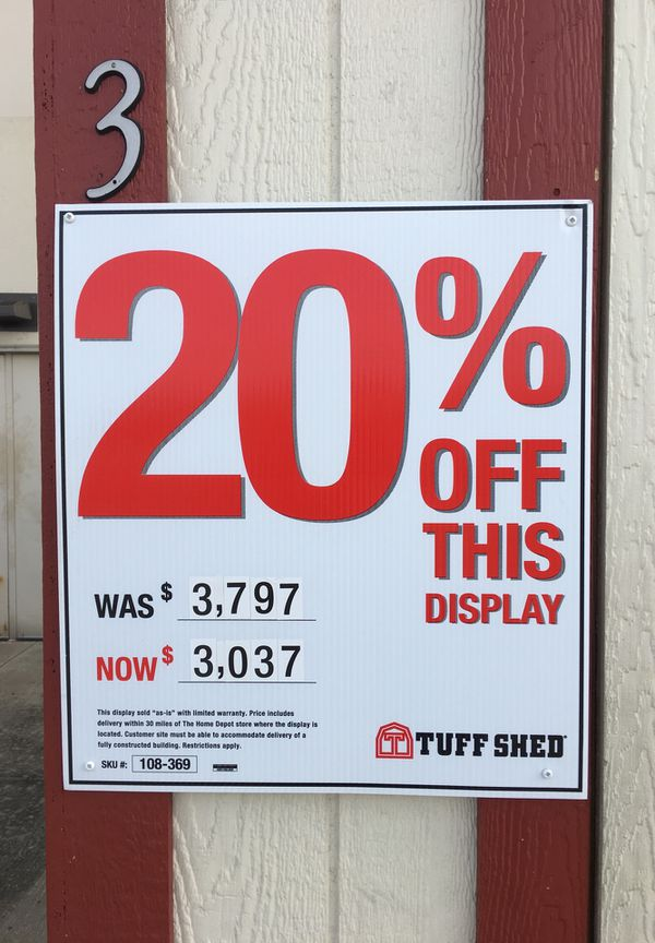 10x12 TR700 TuffShed Display for Sale with free Delivery ...