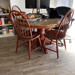 Granite Circular Table + Chairs for Sale in Del Mar,  CA