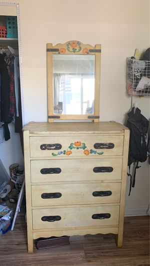 Monterrey High Boy Dresser with Mirror and matching desk and chair for Sale in Torrance, CA