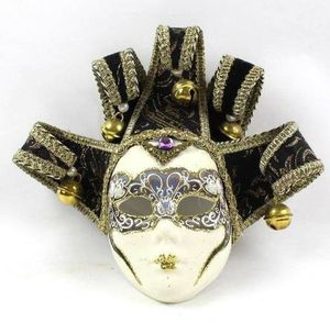 Jester Hand Painted Mask Made in Venice, Italy Black & Gold for Sale in New Port Richey, FL
