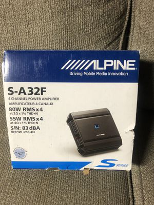 ALPINE S-A32F 4-CHANNEL AMP BRAND NEW for Sale in Anaheim, CA
