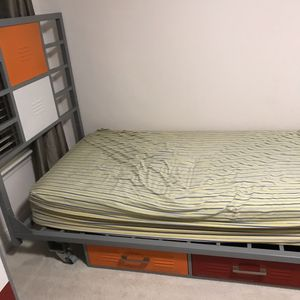Industrial Locker Style Twin Bed with Headboard for Sale in Cary, NC