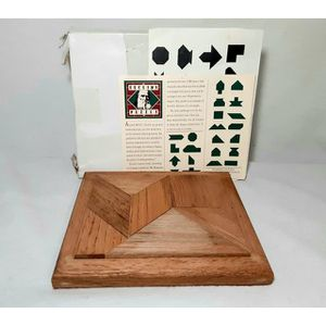Vtg Game EUCLID GEOMETRY Teaching Aid Wooden Puzzle for Sale in Bakersfield, CA