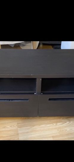 Dark Wood Modern Style TV Stand for Sale in Glendale,  CA