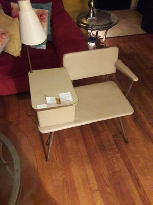 This is an Antique table & light chair in great condition, the paper you see on it was the old couple's emergency countact numbers can be removef for Sale in Brooklyn, IL