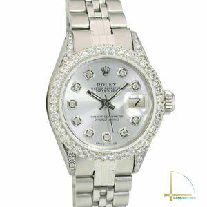 Rolex Lady Datejust 26mm SS Silver Diamond Dial, Bezel & Lugs Jubilee Watch for Sale in Los Angeles, CA