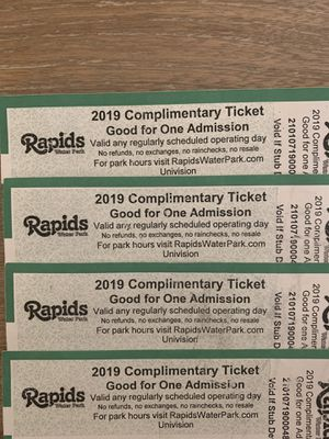 Tickets rapid water park for Sale in Oakland Park, FL