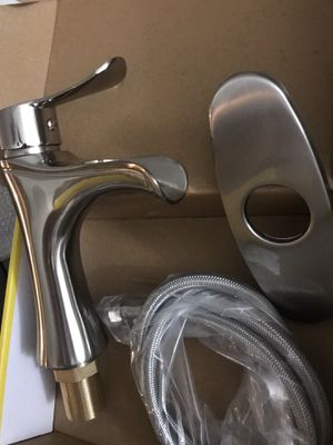 Brand new stainless steel bathroom faucets brush nickel for Sale in Laveen Village, AZ