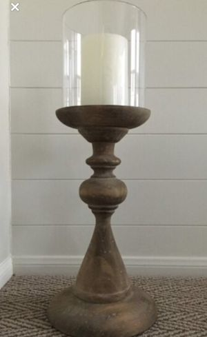 Beige Wood Candle Holder for Sale in Corona, CA