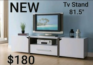 TV Stand in White and Distressed Gray for Sale in Montebello, CA