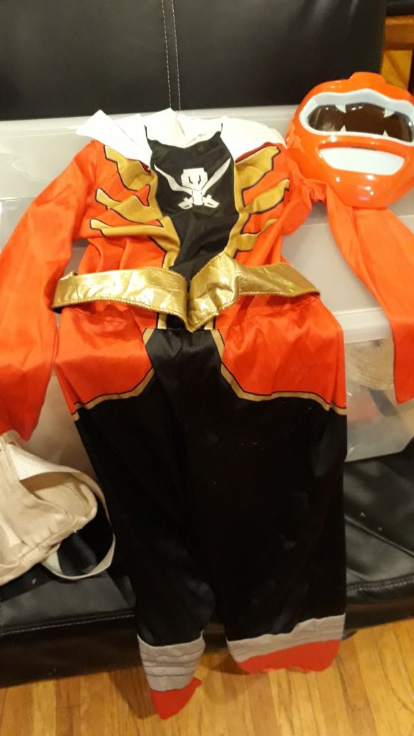 FREE Red POWER Ranger Costume size 7