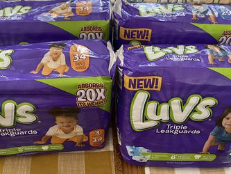 Luvs Pampers Size 3 & 4 for Sale in Mableton,  GA