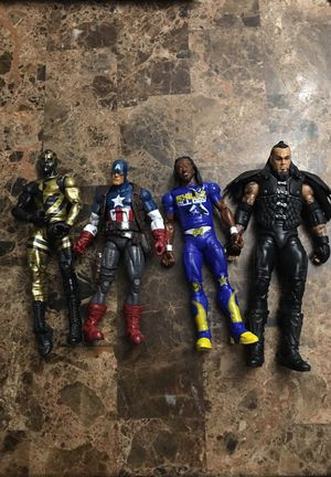 L.E. WWE Wrestlers & Superhero Action Figures for Sale in Houston, TX