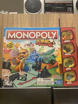Monopoly junior board game for Sale in Fort Lauderdale,  FL