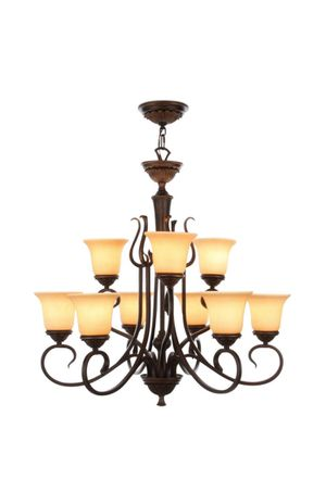 9 light Oil Bronze Transitional Chandelier for Sale in Charlotte, NC