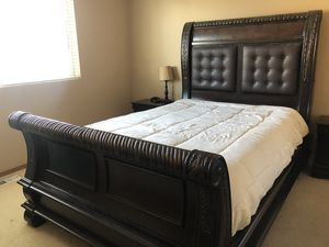 Upholstered Queen size Bed Frame from Mor Furniture for Sale in Auburn, WA