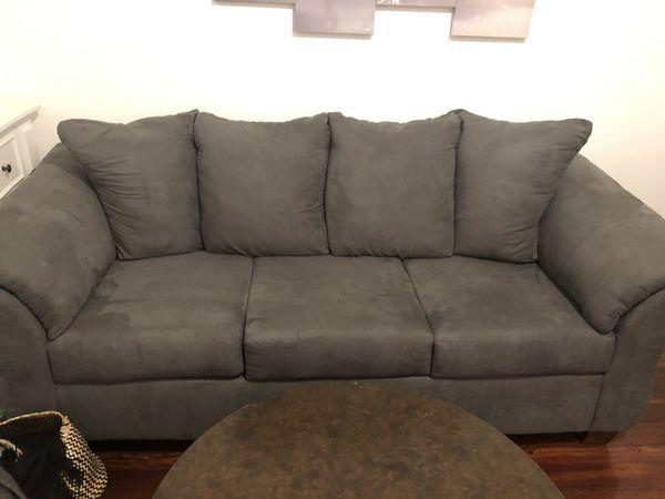 grey medium sized couch (like new)