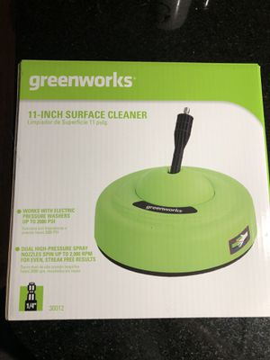 Greenworks 11 inch surface cleaner for power washer for Sale in Aurora, IL
