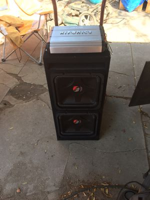 2 12inch kickers solo baric l5 n hifonics amp $430 for Sale in Los Angeles, CA