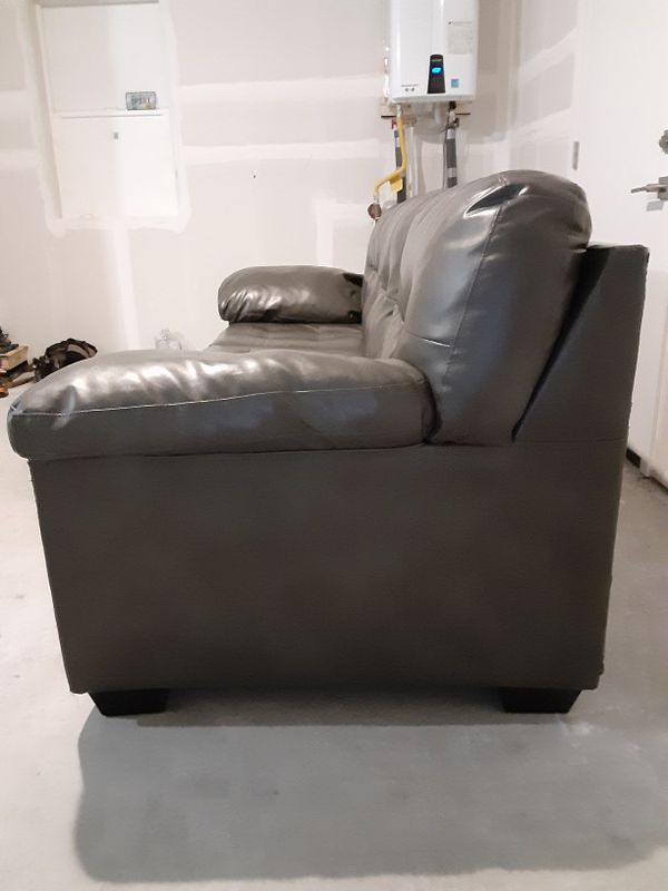 Couch Sofa Genuine Leather $200/obo