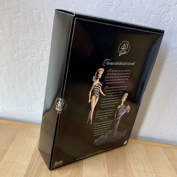 Vintage 1999 Mattel Collectors Edition 40th Anniversary Barbie Doll Toy New Sealed In Box