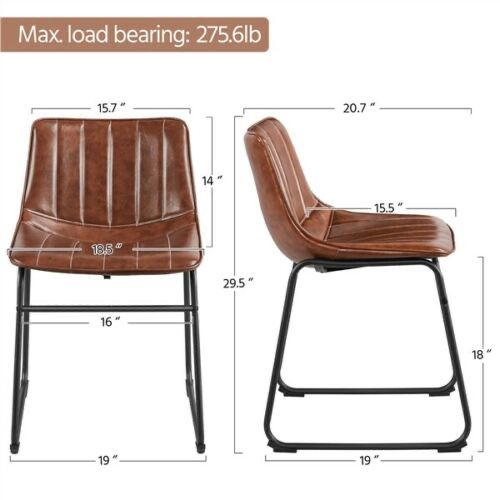 2 PCS Armless Faux Leather fashionable & Comfortable