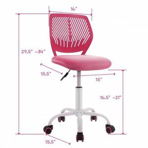 E11-7......Adjustable Office Task Desk Armless Chair for Sale in Walnut, CA