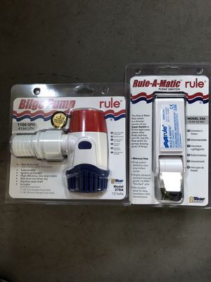 Bilge Pump and Float Switch for Sale in North Haven, CT