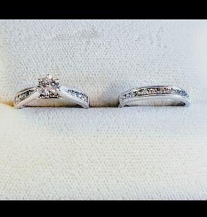 Ben Bridge White Gold & Diamond Wedding Ring Set size 7 for Sale in Austin, TX