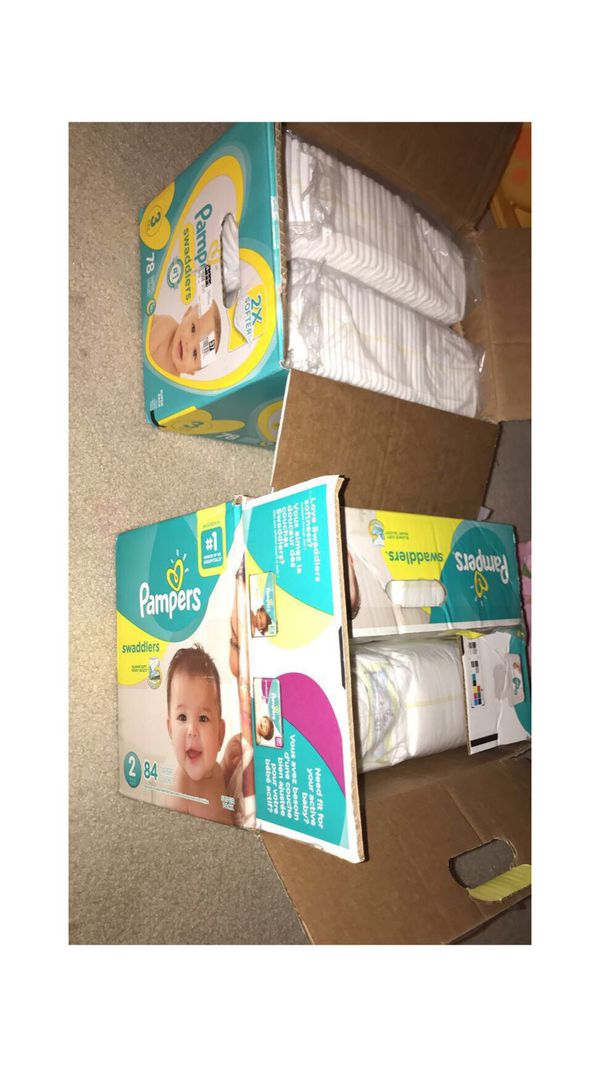 Pampers size 2 and 3