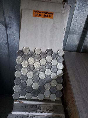 nice tile for your next bathroom project: 150sf 12x24 + 20 sf hex glass tile for Sale in Glendale, AZ