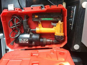 Bostitch nail gun, and 1/2 hammer drill for Sale in Oklahoma City, OK