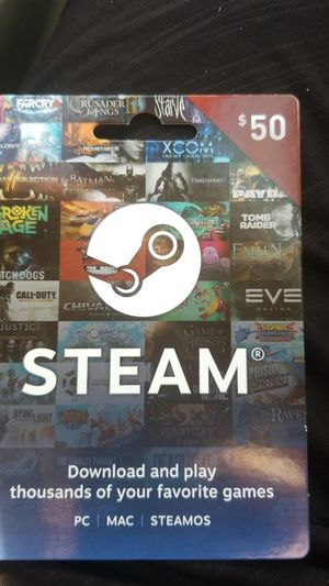 Steam 50.00 card for Sale in Groton, CT
