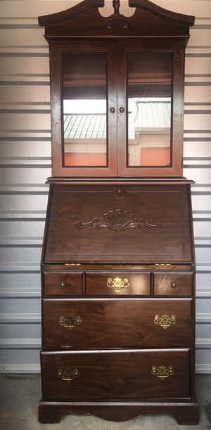 Antique wooden china cabinet and hutche for Sale in Alexandria, VA