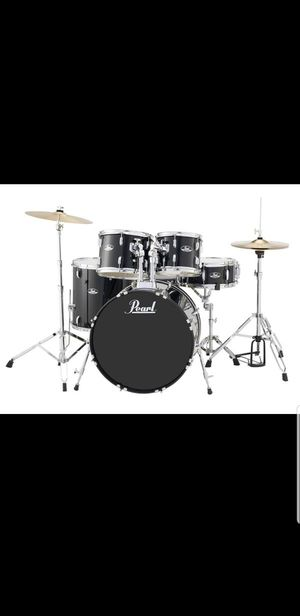 Pearl Fusion 5pc Drum Set, with Stand, Silent Pad. Like New for Sale in Santa Monica, CA