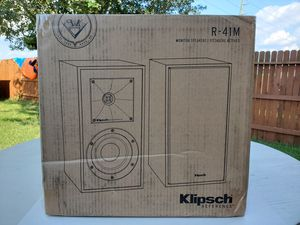Klipsch Reference R-41M Bookshelf Speakers Pair Black for Sale in Cypress, TX