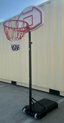 Brand NEW Adjustable 75 to 99 Inches Max Height Kids Junior Youth Indoor Outdoor Sports portable Basketball hoop with Stand backboard for Sale in Whittier,  CA