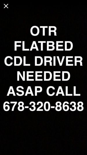 Start now Flatbed driver needed for Sale in Lawrenceville, GA