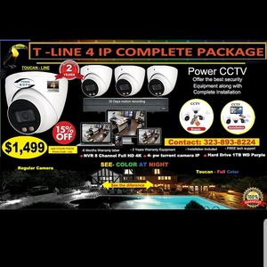 New 4IP Security Cameras package for Sale in Los Angeles, CA