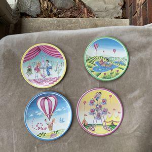 "4 Market Heart Designs Dessert Plates 6"" for Sale in Choctaw, OK"