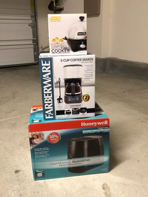 Small Kitchen, Rapid Egg Cooker, Coffee Maker, Humidifier for Sale in Ontario, CA