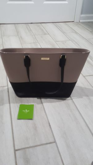 NEW Kate spade authentic tote - tan & black for Sale in Jessup, MD