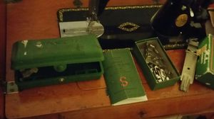 Antique singer sewing machine on cabnet for Sale in San Diego, CA